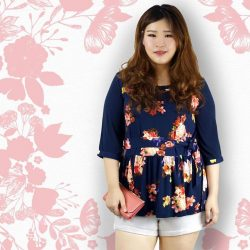 [LOVFLAUNT] Accentuate your curves with our Dark Floral Peplum Top when paired with casual shorts. Perfect for days when the dress