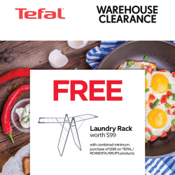 [Courts] Enjoy MORE THAN 60% OFF when you shop at the Tefal Warehouse Clearance from 25 to 26 Feb 2017!