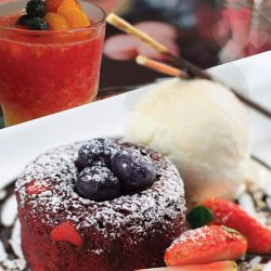 [Lenas] Celebrate this Valentine's Day at LENAS by MOF. Indulge in a lavish, chocolate-infused Red Velvet Lava Cake at $