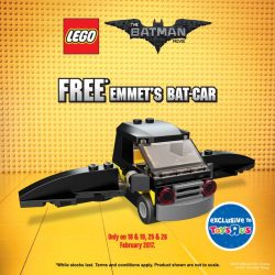 [Babies'R'Us] For the next two weekends, get a FREE Emmet's Bat - Car when you purchase any of the LEGO Batman