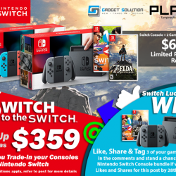 [GAME XTREME] Switch Preorder, Trade-In & Lucky Draw Promo![PROMO DURATION] Switch Lucky Draw: Now - 28/2/17 Switch to the Switch