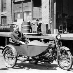 [Harley-Davidson] 136 years ago, one of our founders, Arthur Davidson was born. Here's to the pioneer who revolutionized two-wheeled