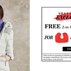 [Universal Traveller] VALENTINE DAY ONLINE EXCLUSIVE!!We are giving Free 2-in-1 Travel Neck Pillow exclusively for you! Interchangeable from a