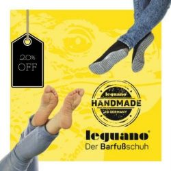 [leguano] You can now start enjoy going barefoot with a huge discount for a limited period of time when you visit