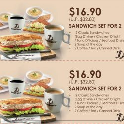 [Delifrance Singapore] Enjoy your favourite Sandwich meal with an exciting 50% discount. Just Download the coupon and flash it at the counter.