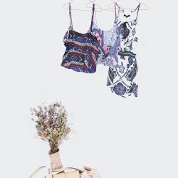 [MDSCollections] Jolee Top in Dark Blue & Blue Print   Tamantha Romper in Print are now at $9.90 online and in stores.