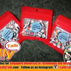 [Lolly Talk] LollyTalk's handcrafted lolly mix for Singapore University of Technology and Design (SUTD), packed into mini ziplock bags with personalized