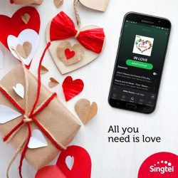 [Singtel] Happy Valentine's Day! Get in the mood for romance with unlimited ad-free music on Spotify Premium with no