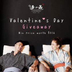 [Yunomori Onsen and Spa] Valentine's Day Giveaway!!Valentine's Day is coming, we are giving away free onsen entry and a set of