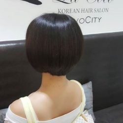 "[Lacoco Hair Salon] Nice matching with her dress code! Our regular customer happy moment in Lacoco ^.^ Done by our Korean Hair Stylist ""G."