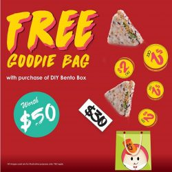 [QQ Rise] GET your FREE Goodies Bag when purchase with DIY Bento*Only valid From 24 February 2017 to 26 February 2017