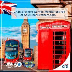[Citibank ATM] Dream deals await at Chan Brothers Suntec Wanderlust Fair this Fri - Sun (17 - 19 Feb), 11am - 8pm, Suntec Singapore Level