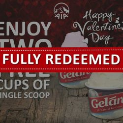 [Gelare Café] Due to overwhelming response, this promo has been fully redeemed! Thank you for your support and we're looking forward