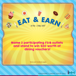 [IMM] Eat & Earn - Like, Comment & Share Contest 27 - 28 Feb 2017Want to win $20 worth of vouchers from TEAHOUSE by