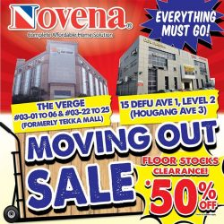 [Novena] Our Defu & The Verge showrooms are having Moving Out Sale this weekend! Furniture at up to 50% off* and display
