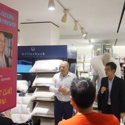 [King Koil Singapore] A talk with CEO/Owner of Fossflakes himself, Adam Foss, at Centrepoint, Metro's close door sales, on the history