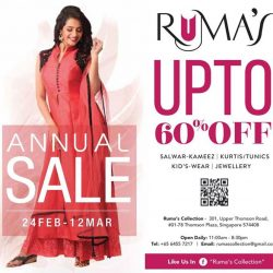 [Ruma's Collection] Storewide 30%- 60% SALE on ALL Apparel !! Prices SLASHED like Never Before !