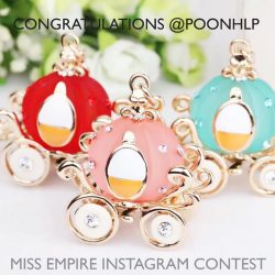 [Miss Empire] We have a winner! Congratulations to @poonhlp , you're the lucky winner to walk away with a free bag charm