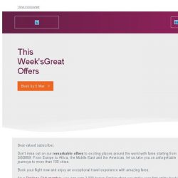 [Qatar] This Week's Great Offers is Back! Fares from SGD859