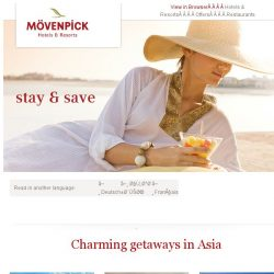 [Mövenpick Hotels & Resorts] Up to 30% off + breakfast included