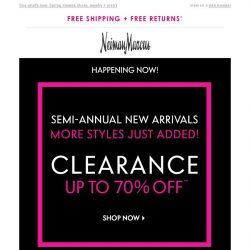 [Neiman Marcus] Just-in clearance! 70% off even more