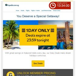 [Expedia] You've scored! We picked you to enjoy this: Expedia makes holiday dreams come true :-)
