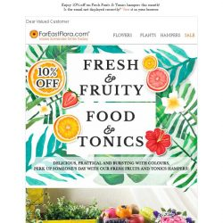 [FarEastFlora] Take 10% Off Fruits & Tonics hampers exclusively this March!