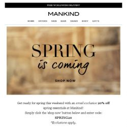 [Mankind] Spring is coming