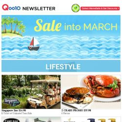[Qoo10] Sale into March! Wave along~
