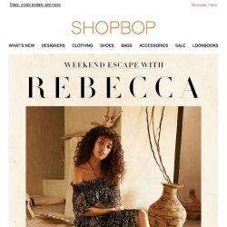[Shopbop] Escape for the weekend with Rebecca Minkoff