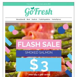 [GoFresh] GoFresh Flash Sale: 15% and more off Fresh Lacto Chicken Breast, Minced chicken and more! Plus $3 Smoked Salmons on Sale Now while stocks last!