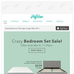 [HipVan] Crazy Discounts on Bedroom Sets!