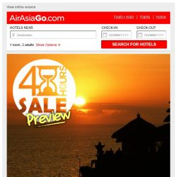 [AirAsiaGo] ⌛ PREVIEW of 48 hour Sale | Only for subscribers ⌛