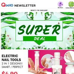 [Qoo10] 2 In 1 ! Electric Nail Tool For S$4.90 Only!