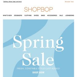 [Shopbop] New styles added to SALE!