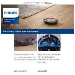 [PHILIPS] Do less, clean more. Enjoy 30% off* all robot vacuum cleaners!