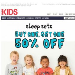 [Cotton On] Buy one Sleep Set, get the second set HALF PRICE!