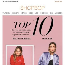 [Shopbop] 10 must-have items for spring
