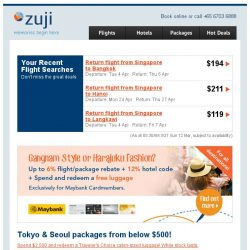 [Zuji] 4D3N Tokyo and Seoul packages from under $500!