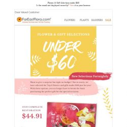 [FarEastFlora] Flowers & Gifts Selections under $60 to warm the heart without busting budget