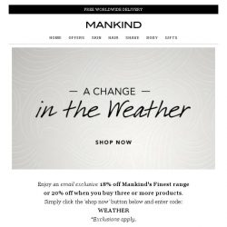 [Mankind] Get ready for a change in the weather