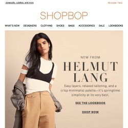 [Shopbop] Spring minimalism from Helmut Lang