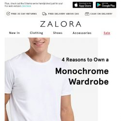 [Zalora] Master the Monochrome look with these classic picks