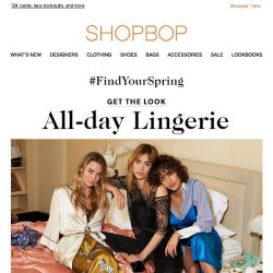 [Shopbop] Get the look: all-day lingerie