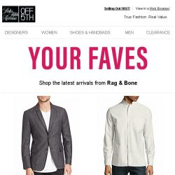 [Saks OFF 5th] SPECIAL DELIVERY: New Arrivals from Rag & Bone are here!