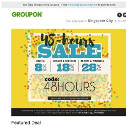 [Groupon] Only for 48 Hours! | Up to EXTRA 28% OFF Local Deals! | Cash Voucher at Mooi Chin Place / 2 Outlets: 2.5-Hr Spa Indulgence at Coslab
