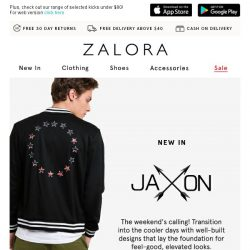 [Zalora] Give your downtime wardrobe an upgrade with JAXON