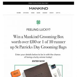 [Mankind] Feeling Lucky this St. Patrick's Day? Lucky Dip Savings inside