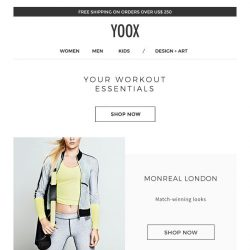 [Yoox] Indoor training: all-new items for working out in style