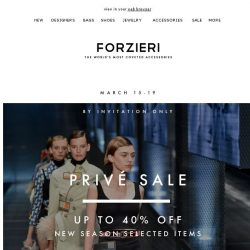 [Forzieri] Closing in 24 hours | The Privé Sale